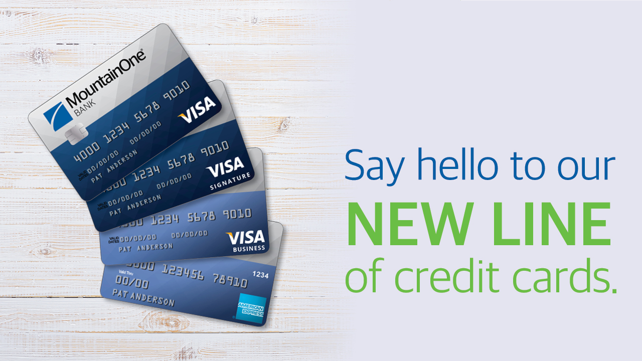 Say hello to our new line of credit cards