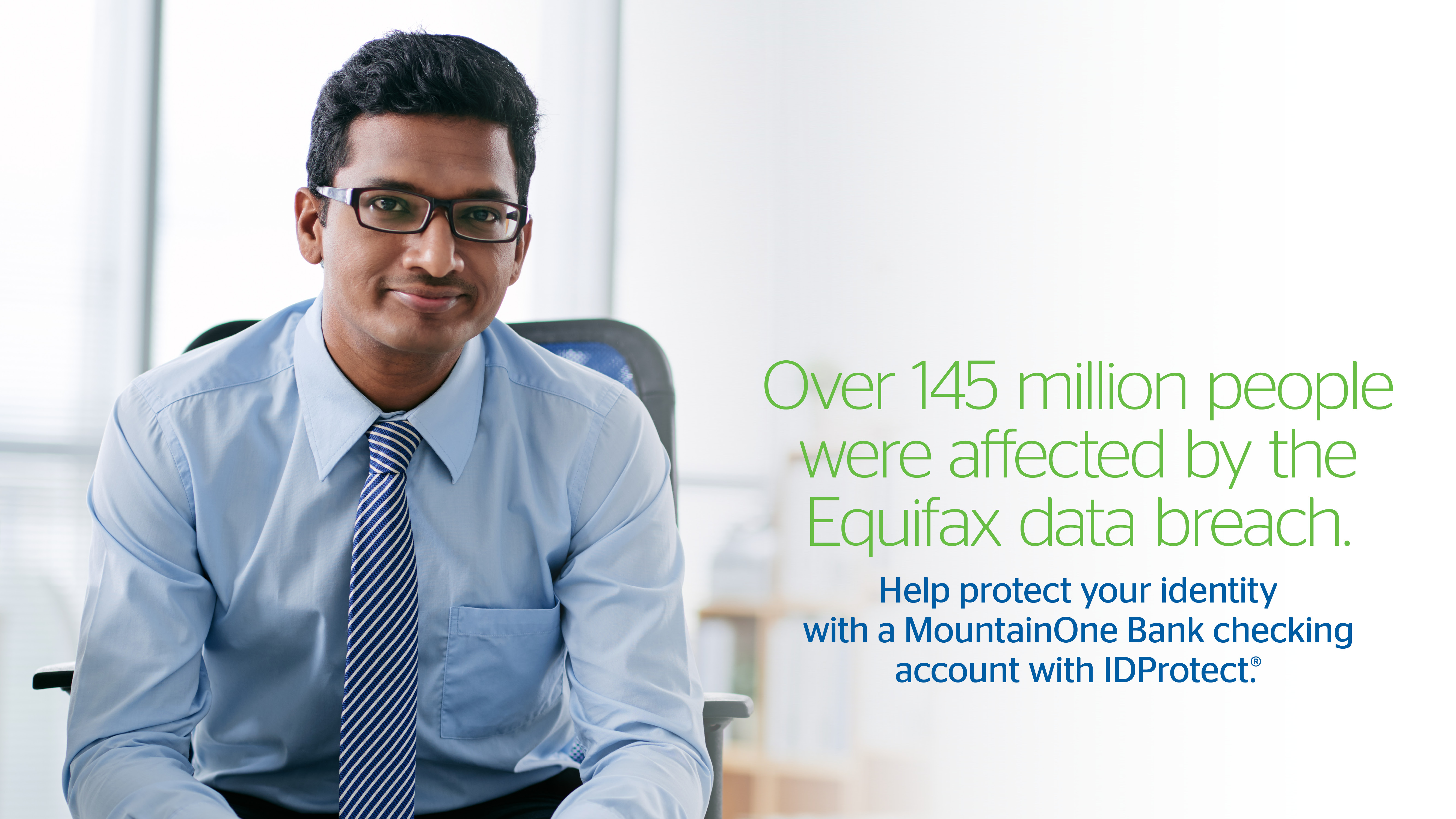 Help protect your identity with a MountainOne Bank checking account with IDProtect.