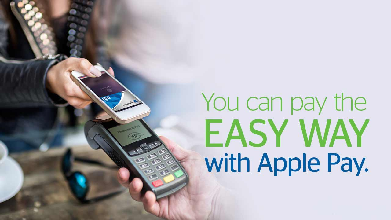 You can pay the Easy Way with Apple Pay.