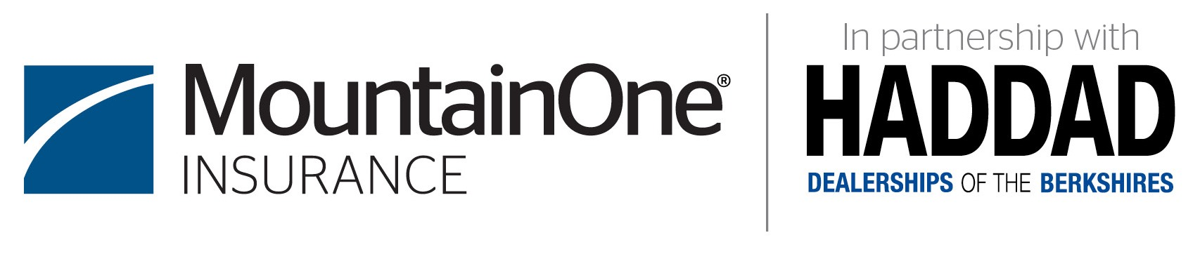 MountainOne Insurance and Haddad logo