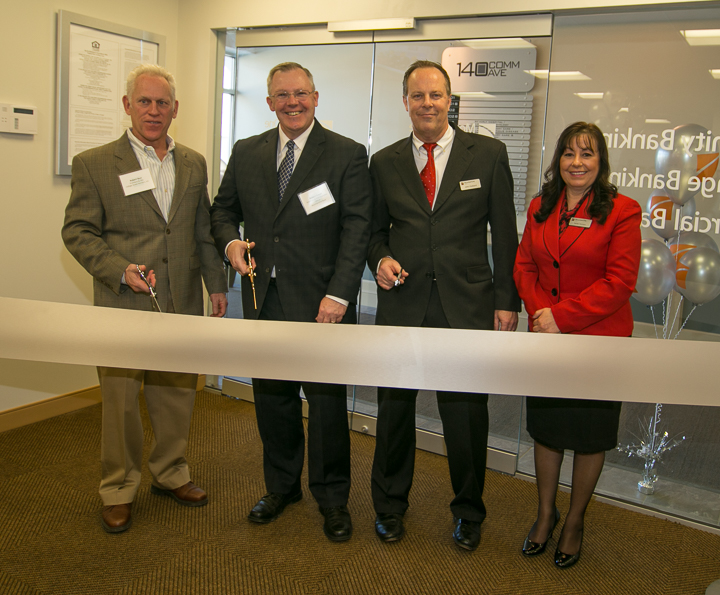 ribbon cutting at Danvers branch