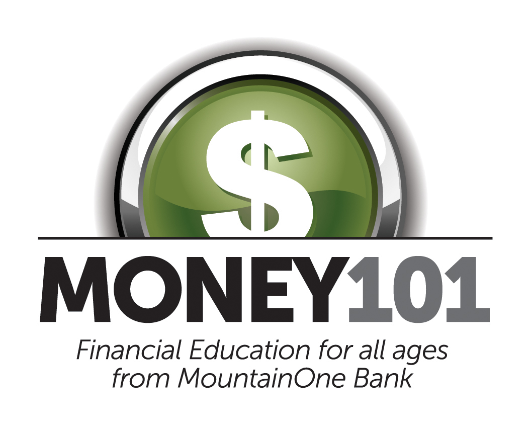 Money 101 Financial Education for all ages from MountainOne Bank logo