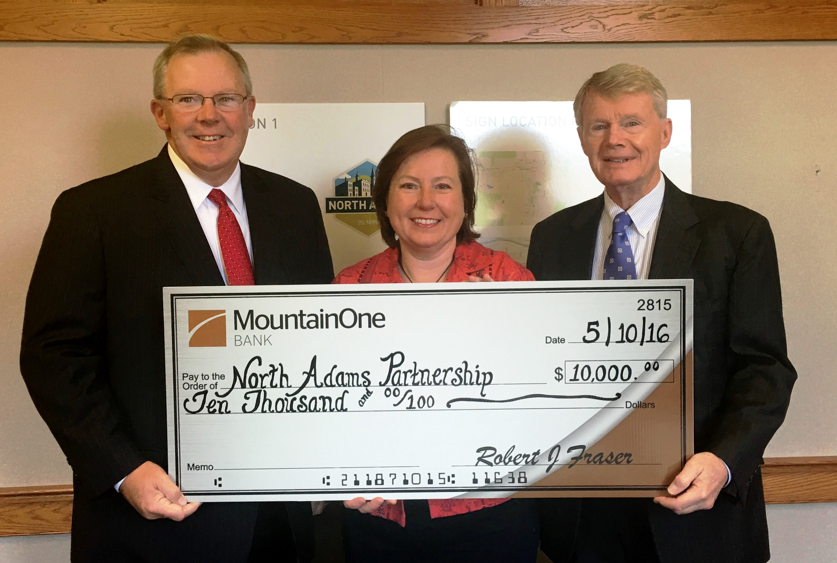 North Adams Partnership donation check