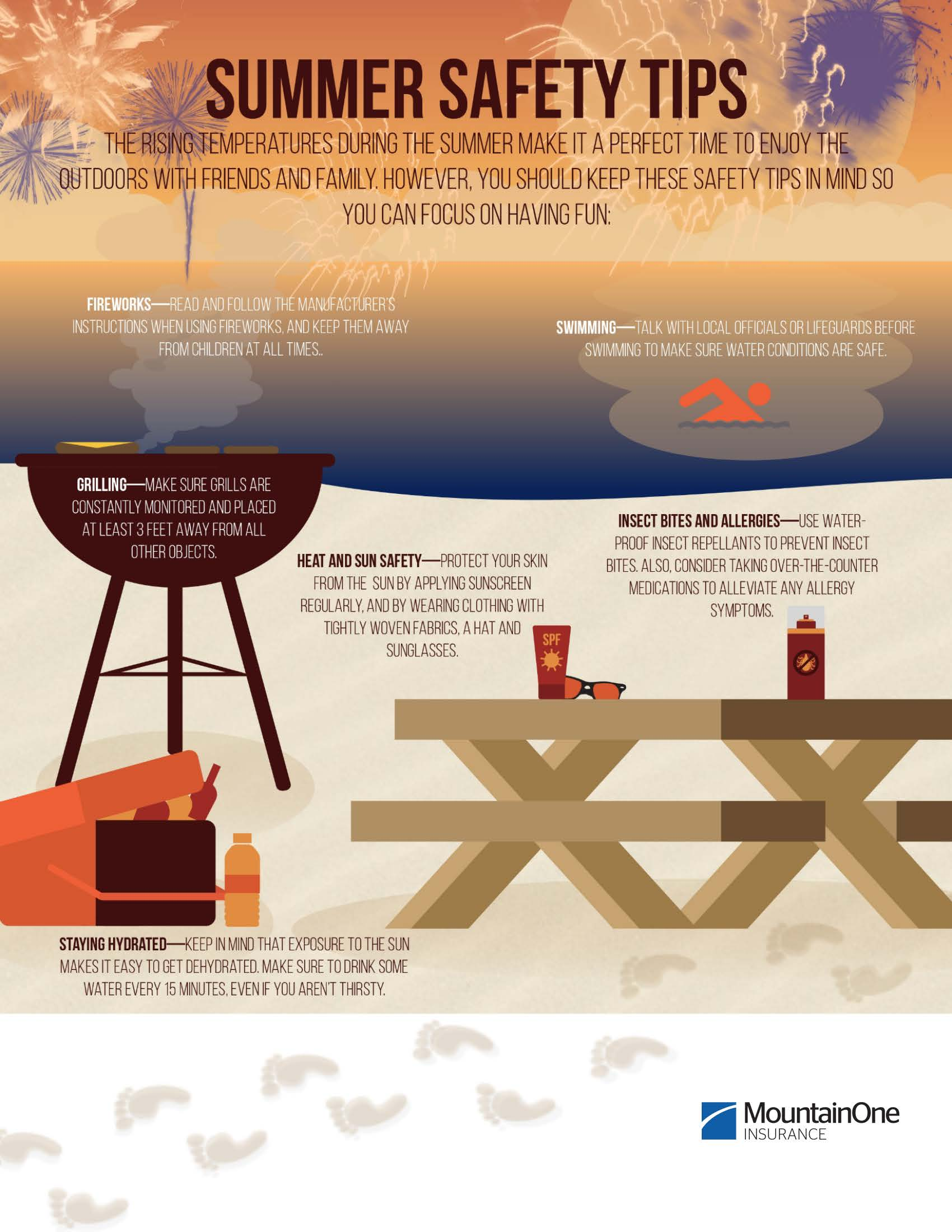 Summer Safety Tips infographic