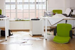ransacked business office